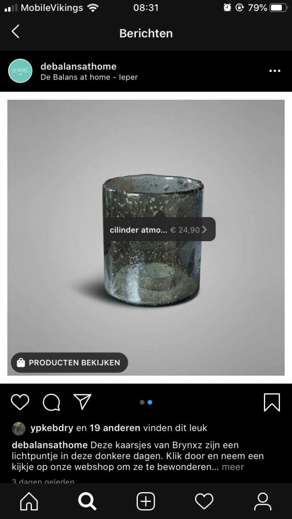 Instagram en Facebook shopping
