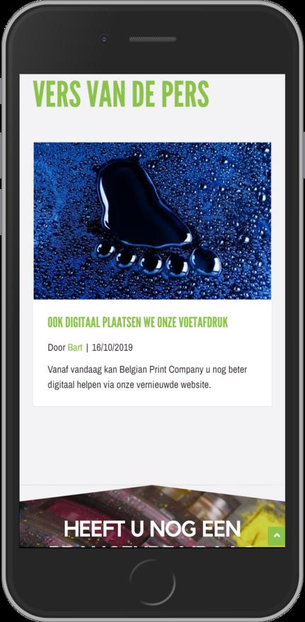 Blog voor nieuws en acties op smartphone