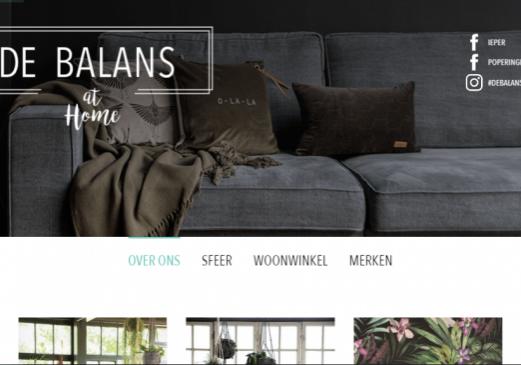 De Balans at Home homepage