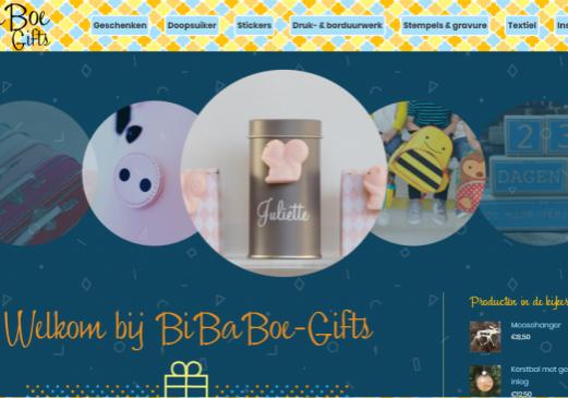 Bibaboe-Gifts homepage
