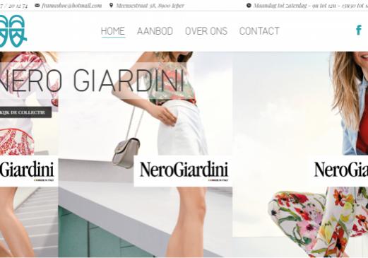 Frama Shoe homepage