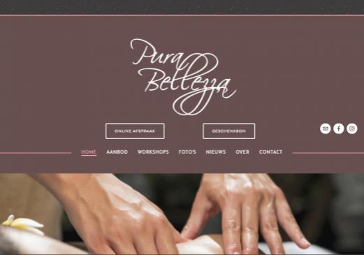 Pura Bellezza homepage