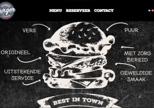 Ypres Burger homepage